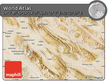 "Satellite Map of the Area around 28°18'5""N,51°55'29""E"