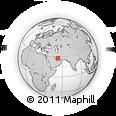 Outline Map of Jahrom, rectangular outline