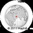Outline Map of Būzār, rectangular outline