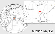 """Blank Location Map of the area around 28°18'5""""N,68°4'29""""E"""