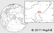 """Blank Location Map of the area around 28°18'5""""N,69°46'30""""E"""