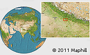 """Satellite Location Map of the area around 28°18'5""""N,79°58'29""""E"""