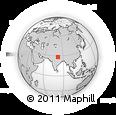 Outline Map of Nepalgunj, rectangular outline