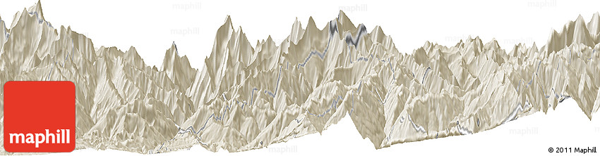 Shaded Relief Horizon Map of Burāthum