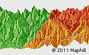 """Political Panoramic Map of the area around 28°18'5""""N,85°4'29""""E"""