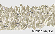 """Shaded Relief Panoramic Map of the area around 28°18'5""""N,85°4'29""""E"""