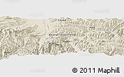 "Shaded Relief Panoramic Map of the area around 28° 18' 5"" N, 86° 46' 30"" E"