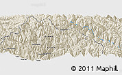 Shaded Relief Panoramic Map of Adung Long
