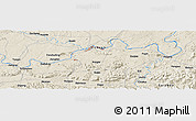 Shaded Relief Panoramic Map of Luzhou