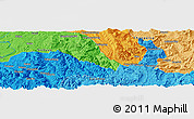 Political Panoramic Map of Dongsheng