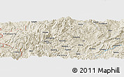 Shaded Relief Panoramic Map of Daqian