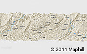 Shaded Relief Panoramic Map of Lingxiao