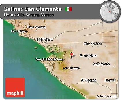 Salinas Mexico Map.Free Satellite 3d Map Of Salinas San Clemente