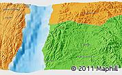 Political 3D Map of Nuweiba'