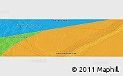 """Political Panoramic Map of the area around 28°47'8""""N,45°58'30""""E"""