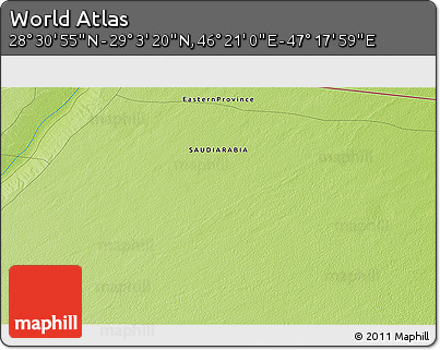 """Physical 3D Map of the Area around 28°47'8""""N,46°49'30""""E"""