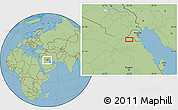 "Savanna Style Location Map of the area around 28°47'8""N,46°49'30""E"