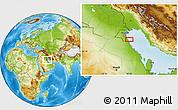 Physical Location Map of Umm Qaşbah