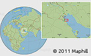 "Savanna Style Location Map of the area around 28°47'8""N,48°31'29""E"