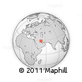 """Outline Map of the Area around 28° 47' 8"""" N, 49° 22' 30"""" E, rectangular outline"""