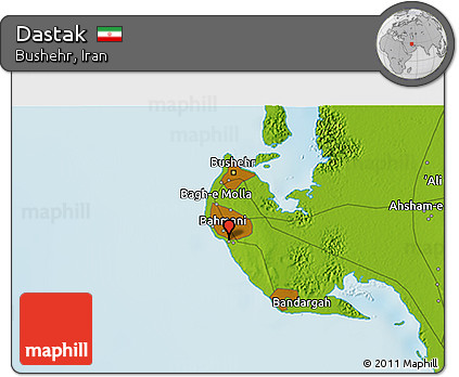 Physical 3D Map of Dastak