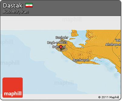 Political Panoramic Map of Dastak