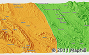 Political 3D Map of Āshī