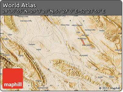 "Satellite Map of the Area around 28°47'8""N,51°55'29""E"