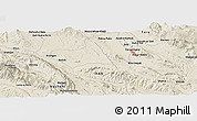 "Shaded Relief Panoramic Map of the area around 28° 47' 8"" N, 51° 55' 29"" E"