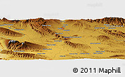 """Physical Panoramic Map of the area around 28°47'8""""N,53°37'30""""E"""