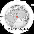 Outline Map of Bākān-e Now, rectangular outline