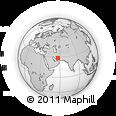 Outline Map of Esfandagheh, rectangular outline