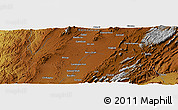 Physical Panoramic Map of Rodinjo