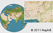 """Satellite Location Map of the area around 28°47'8""""N,67°13'29""""E"""