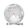 """Outline Map of the Area around 28° 47' 8"""" N, 67° 13' 29"""" E, rectangular outline"""