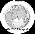 Outline Map of Khairpur, rectangular outline