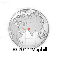 """Outline Map of the Area around 28° 47' 8"""" N, 68° 55' 30"""" E, rectangular outline"""