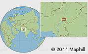 "Savanna Style Location Map of the area around 28°47'8""N,69°46'30""E"