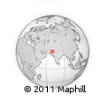 """Outline Map of the Area around 28° 47' 8"""" N, 69° 46' 30"""" E, rectangular outline"""