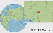 "Savanna Style Location Map of the area around 28°47'8""N,70°37'30""E"