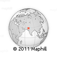 """Outline Map of the Area around 28° 47' 8"""" N, 70° 37' 30"""" E, rectangular outline"""