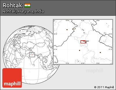 Blank Location Map of Rohtak