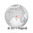 Outline Map of Delhi, rectangular outline