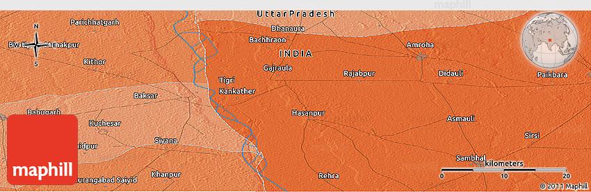 Political Panoramic Map Of Saidpur - Saidpur map