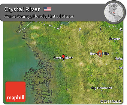 Map Of Crystal River Florida.Free Satellite Map Of Crystal River