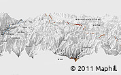 "Physical Panoramic Map of the area around 28° 47' 8"" N, 84° 13' 29"" E"