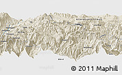 "Shaded Relief Panoramic Map of the area around 28° 47' 8"" N, 84° 13' 29"" E"