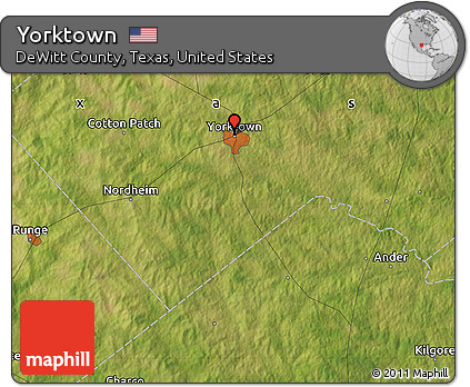 Map Of Yorktown Tx.Free Satellite Map Of Yorktown