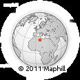 Outline Map of Stah, rectangular outline