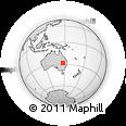 Outline Map of Bollon, rectangular outline